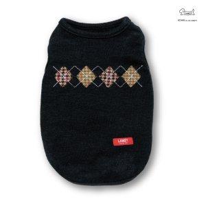 画像1: アーガイル セーター 【ネイビー】