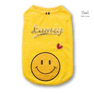 画像1: 大きなムーンスマイルTシャツ 【イエロー】